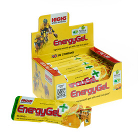 High5 EnergyGel Plus - Nutrition sport - Orange 20 x 40g